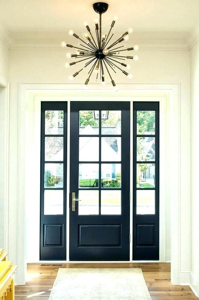 Entry Door With Sidelights And Transom Steel Front Doors With Double Front Doors W In 2020 Double Front Doors Black Exterior Doors Entry Door With Sidelights