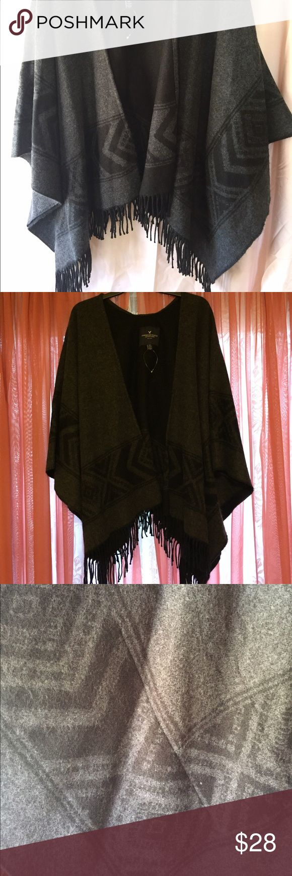 American Eagle Outfitters Poncho Like New American Eagle Poncho- Worn once! Beautiful and warm. American Eagle Outfitters Jackets & Coats Capes