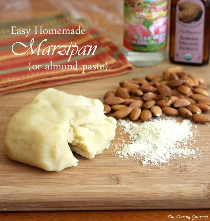Easy Homemade Marzipan or Almond Paste. daringgourmet.com