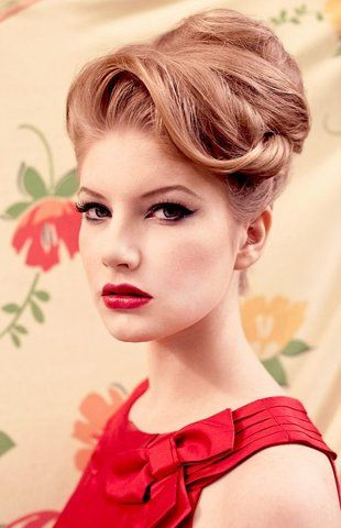 *** VINTAGE HAIR *** maybe something like this for bridesmaids...