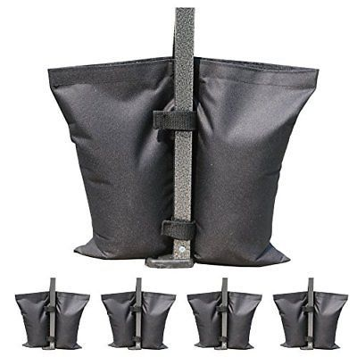 MasterCanopy Set of 4 Weights Bags for Pop Up Portable Folding Canopy Black