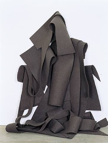 'Felt Sculpture. Robert Morris is an American sculptor, conceptual artist and writer. He is regarded as one of the most prominent theorists of Minimalism along with Donald Judd but he has also made important contributions to the development of performance art, minimalism, land art, the Process Art movement and installation art.