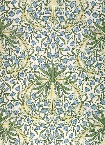Hareball wallpaper, by William Morris. England, late 19th century