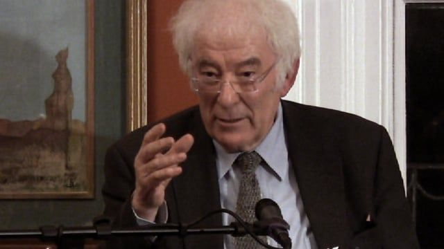 Seamus Heaney reading from the poetry of Zbigniew Herbert.  16th October 2008 Irish Writers' Centre Dublin Camera and Edit: Marek Bogacki Produced by DOCUMENTAVI 2008