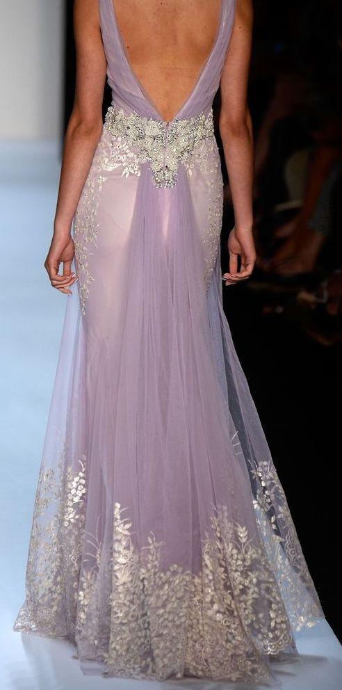 Badgley Mischka Lavender Gown