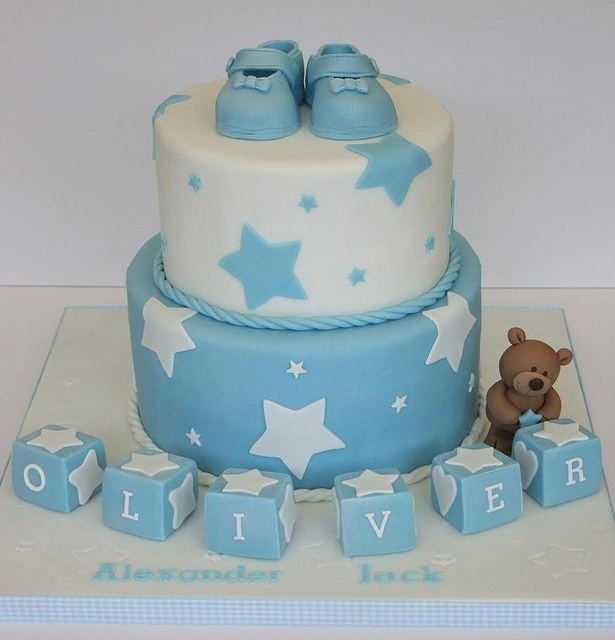 Boy Christening Cake by Cake Head Creations, via Flickr