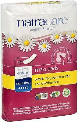 Sanitary Napkins: Natracare Organic Cotton Natural Feminine Night Time Maxi Pads, Long 10 Ea (7Pk) -> BUY IT NOW ONLY: $43.14 on eBay!