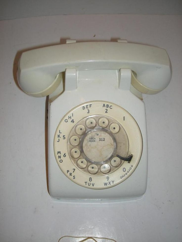 Vintage Western Electric AT&T Bell Rotary Dial White Retro Desk Phone