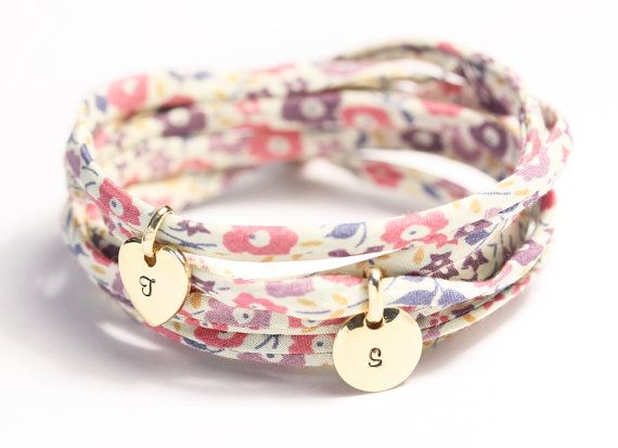 bridesmaid gifting - personalize one of these cute floral charm bracelets