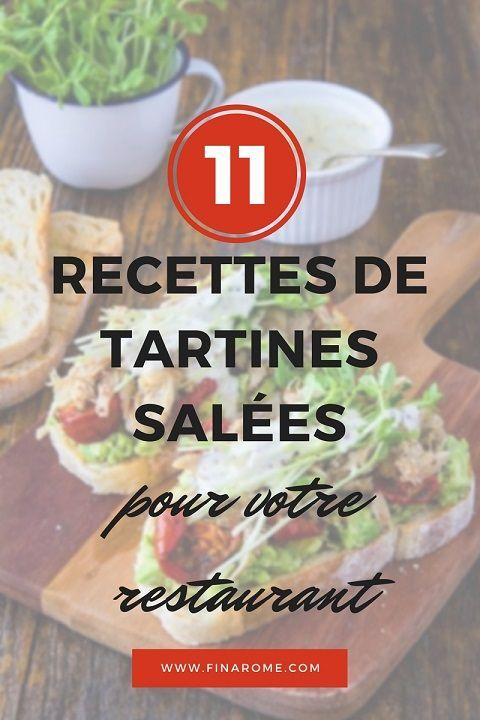 11 tartines salées à proposer en entrée - Blog - Equipement de cuisine professionnelle