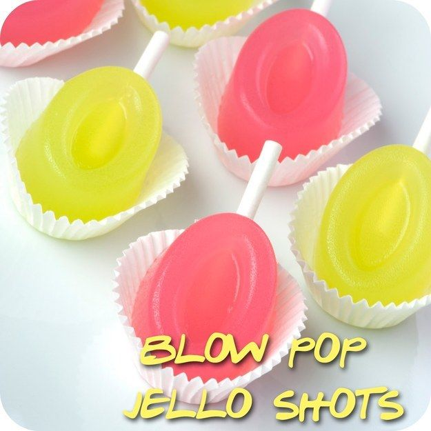 Blow Pop Jello Shots | 29 Essentials For Throwing A Totally Awesome '90s Party                                                                                                                                                                                 More