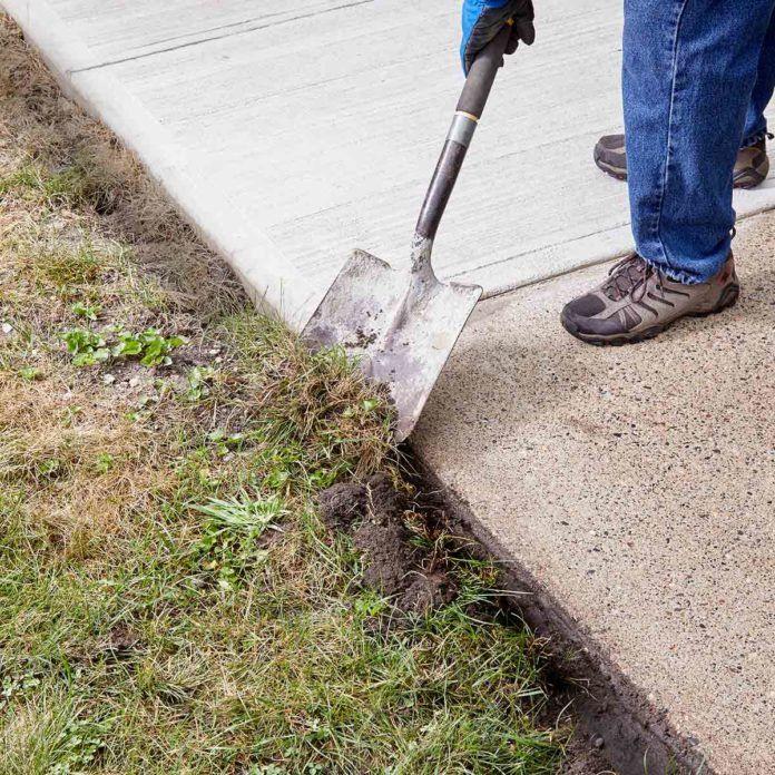 Resurfacing A Sidewalk Is Easy To Diy Sidewalk Repair Concrete Patio Makeover Concrete Resurfacing