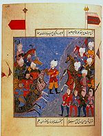 16th-century Ottoman miniature of the Battle of Chaldiran.-In 1511, Ismail had supported an pro Shia/Safavid uprising in Anatolia, the Şahkulu Rebellion. In 1514, Selim I attacked Ismā'il's kingdom to stop the spread of Shiism into Ottoman dominions. Selim and Ismā'il had been exchanging a series of belligerent letters prior to the attack. Selim I defeated Ismā'il at the Battle of Chaldiran in 1514