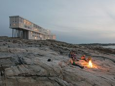 fogo island newfoundland canada | ... fire outside the Fogo Island Inn, Fogo Island, Newfoundland, Canada