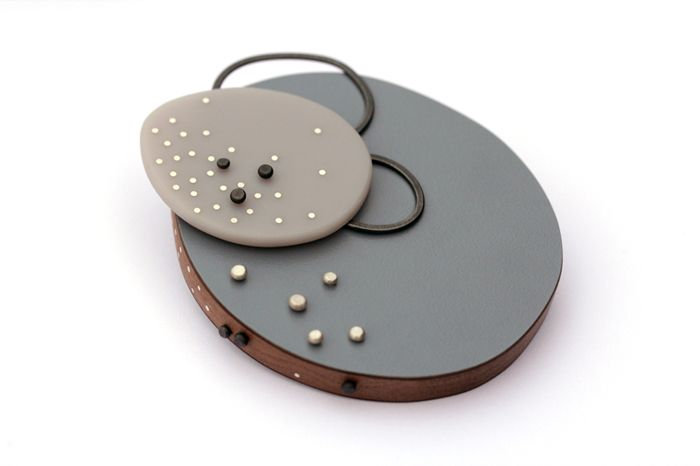Grey dot brooch | Emily Kidson