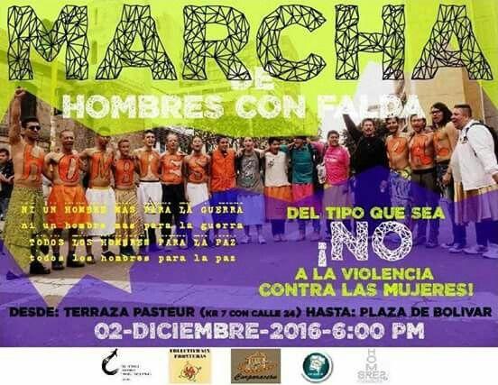Agencia Ciudadana apoyando marcha de los hombres con falda. Le decimos no a cualquier forma de violencia en contra de las mujeres y niñas.