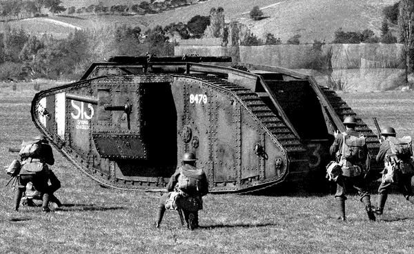This is one of the new weapons from WW1, it is a tank, its slow, big, and strong.