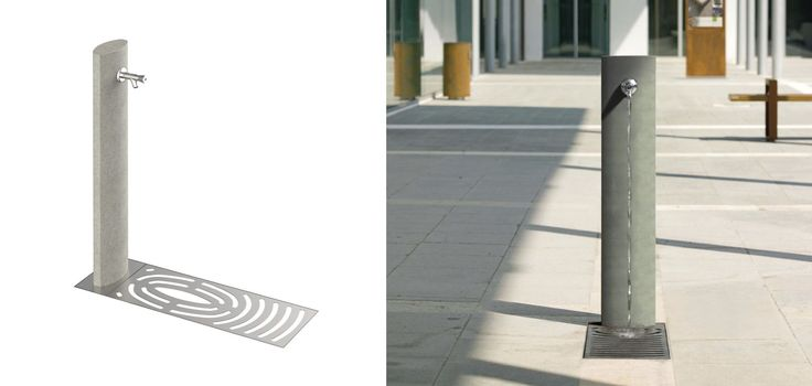 Outdoor drinking fountain / high-performance concrete - UHPC SPRING F - METALCO
