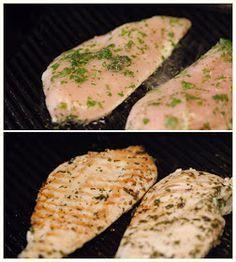 Pollo marinado a la plancha rapido