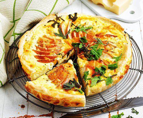 Käsequiche mit Birnen