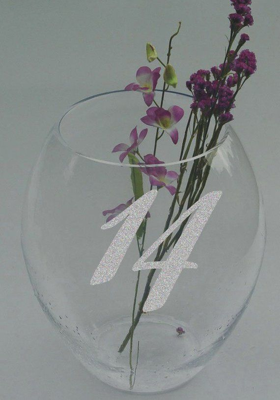 Wedding Table Numbers 1 10 15 20 Or 25 Custom Frosted Etched
