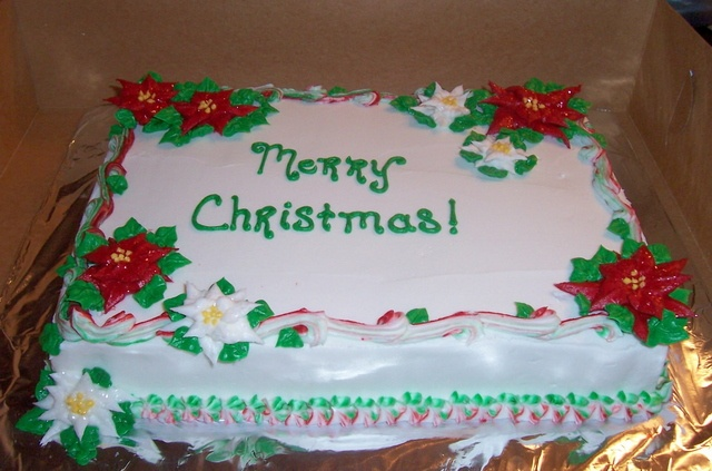 Christmas Sheet Cake Decorating Ideas : 87 best Christmas Cake Ideas images on Pinterest Holiday ...