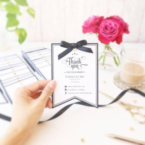 りぼんをつけるだけで高級感♡ウェディング用のメッセージカードのおしゃれデザイン☆