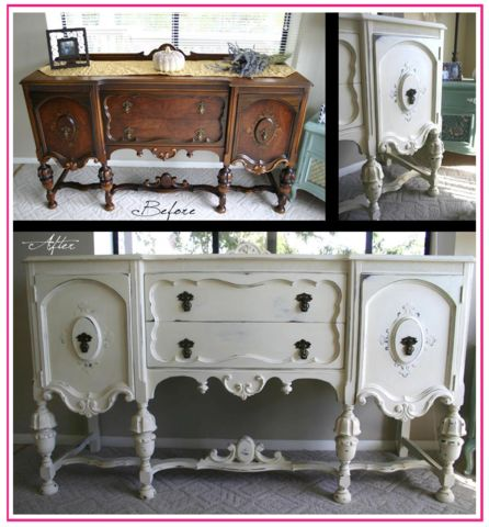 See the difference - it is so easy - painted with Annie Sloan Chalk Paint.  No sanding, priming or prepping.... just start painting!  This is the BEST paint in the World!  Visit our site to learn more http://www.Drab2FabPaint.com - shopping coming soon.....