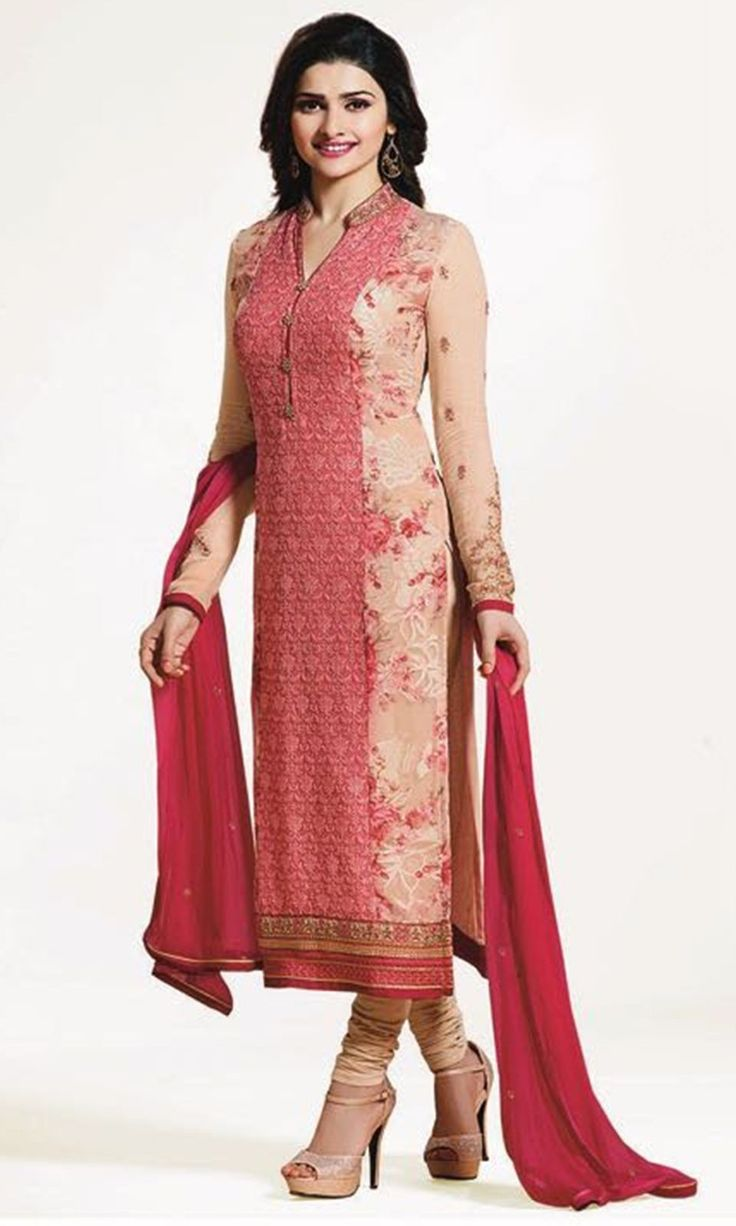 Buy online Churidaar Beige Party wear Straight Cut Suit (SKU Code : SUEBRVF4655) at Ishimaya Fashion.