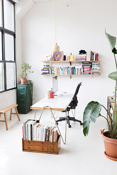 What A Clean And Beautiful Creative Workspace + At Home Office!