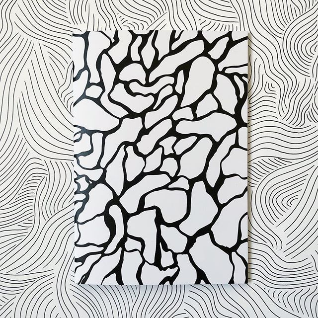 Notebook Design Black And White Pattern Screen Printed Pattern