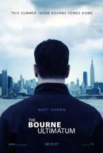 The Bourne Ultimatum:  Jason Bourne dodges a ruthless CIA official and his agents from a new assassination program while searching for the origins of his life as a trained killer.