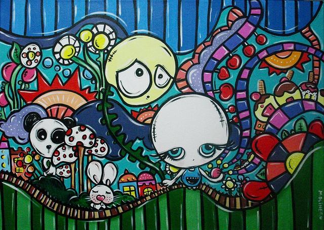 """""""el jardinero"""" acrylic on canvas"""