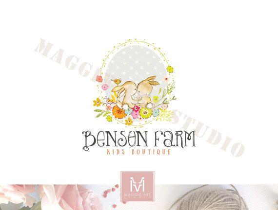 Bunny Logo,Floral Logo, Photography Logo,Artisan Logo, Boutique Logo ,Events Logo, Decor Logo, Stamp Logo, Logo,Watermark