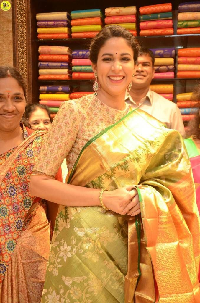 Lavanya Tripati Launches Kanchipuram Kamakshi Silks in