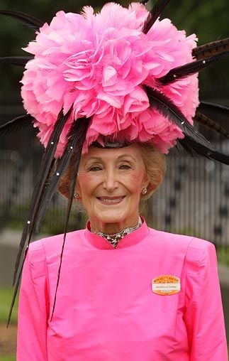 racegoer is pictured in an elaborate hat- you gotta love those Brits!  http://www.telegraph.co.uk/news/picturegalleries/2152299/Royal-Ascot-hats-off-for-day-two.html?image=13