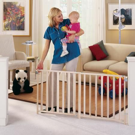 North States - Extra-Wide Wooden Swing Gate - Walmart.com