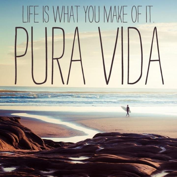 """#Pura #vida: common saying in #CostaRica (literal meaning: pure life; can be used as a greeting, a good-bye or as a synonym for """"awesome"""").  http://www.spiabroad.com/costa-rica/"""