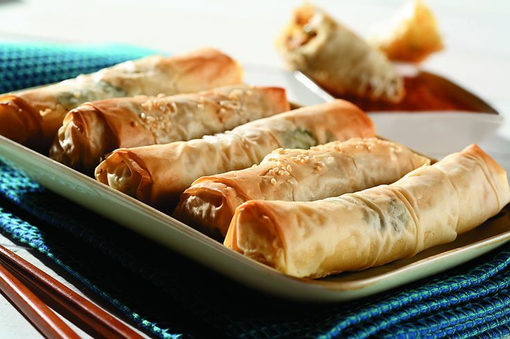 PHYLLO PASTRY SPRING ROLLS | CanolaEatWell.com