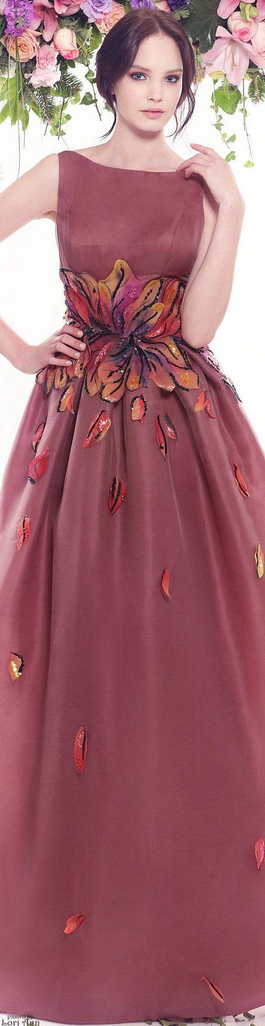 burgundy maxi dress @roressclothes closet ideas women fashion outfit clothing style Fadwa Baalbaki Couture Spring 2016: