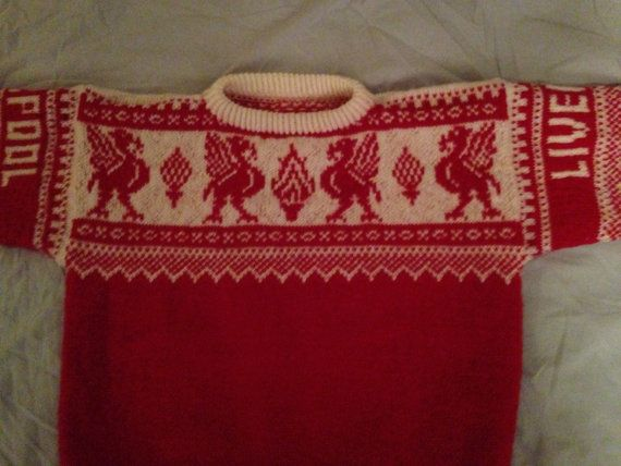 Liverpool Handknitted Jumper  100% Wool by JennysHandknitting
