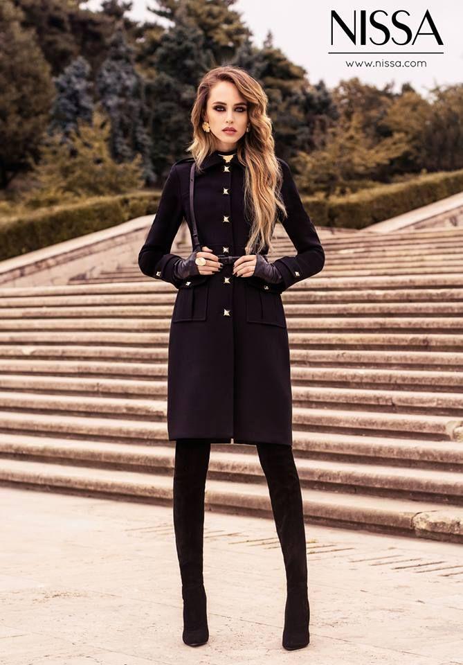 #nissa #new #collection #fw #fw2015 #coat #redingota #campaign #model #girl #outdoor #look #style #fashion #fashionista  www.nissa.com