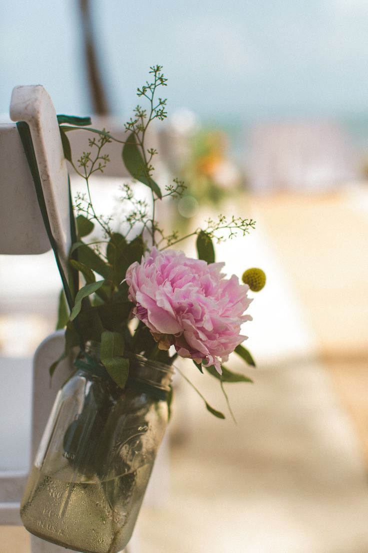 #aisle-decor, #peony  Photography: Concept Photography - cptphotography.com  Read More: http://www.stylemepretty.com/2013/08/28/islamorada-wedding-from-concept-photography-2/
