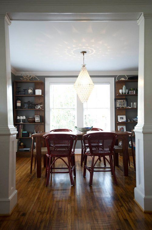 Julia's Dining Room Paint & Pairing: Sultry Gray Walls & Warm Brown Shelf — Liveblogging the Style Cure