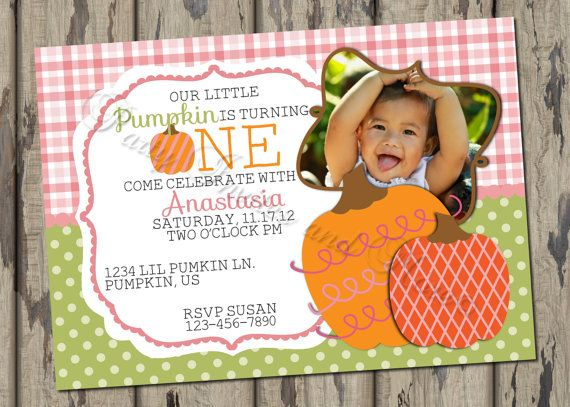 Fall Birthday Invitation Pumpkin Birthday by PartyInvitesAndMore, $12.00
