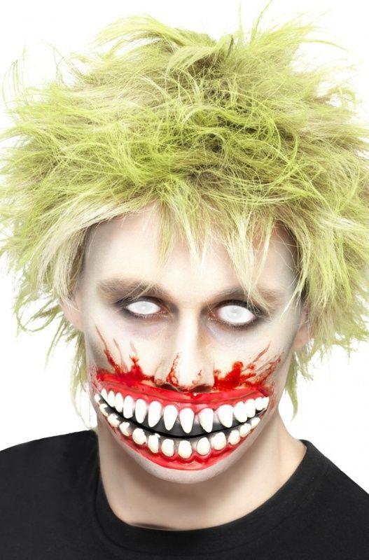 Lateksowa imitacja zębów zombie jest doskonałym dodatkiem do mrocznego stroju na Halloween