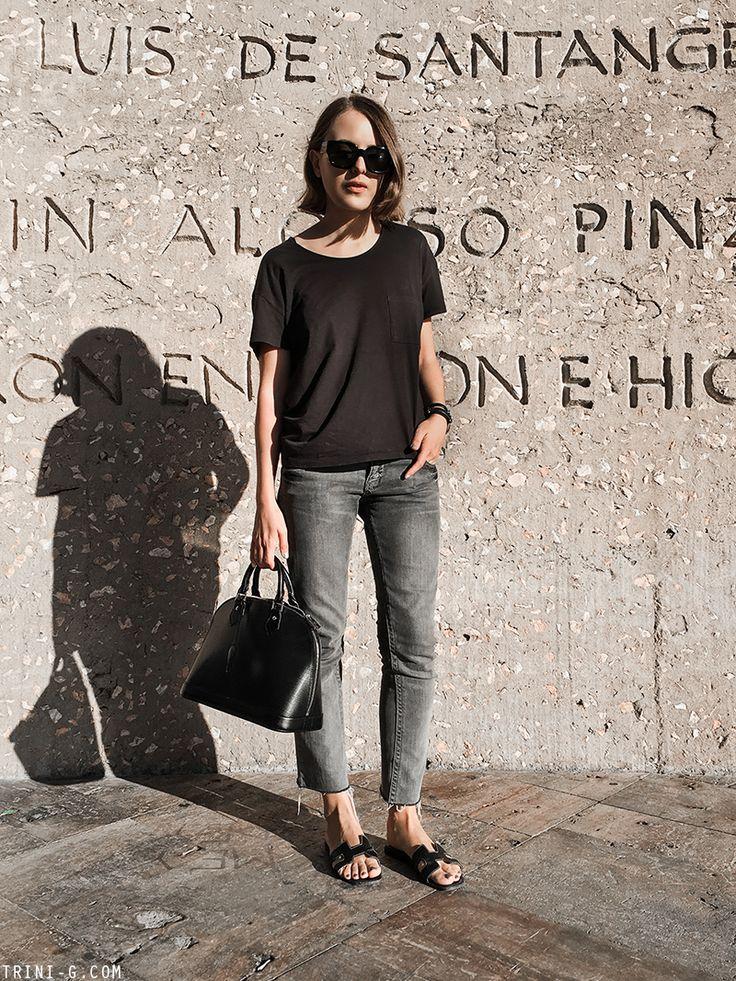 Trini | Hermes Oran sandals - Louis Vuitton Alma bag