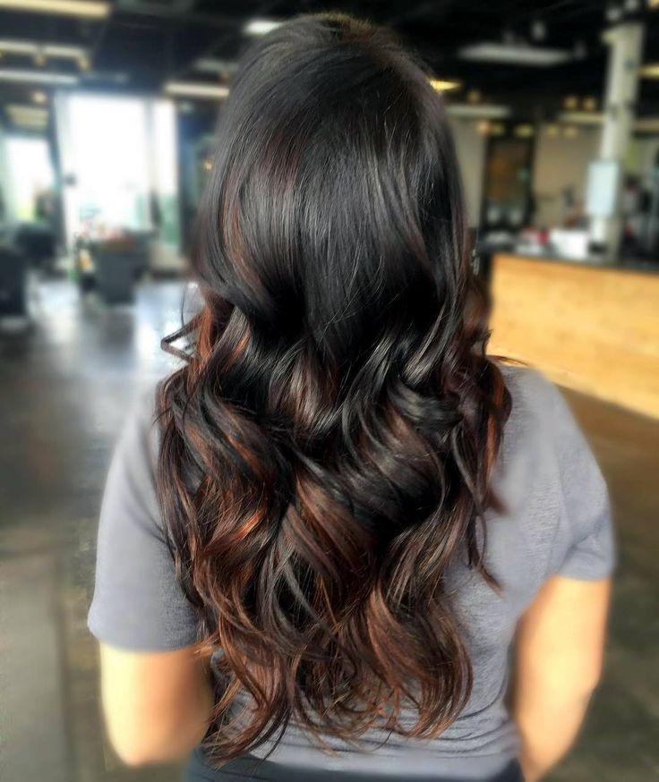 awesome 50 примеров мелирования на черные волосы — короткие и длинные прически (Фото)