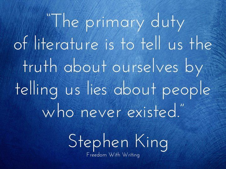 Writing #advice from #author Stephen King. Are your characters based on people…