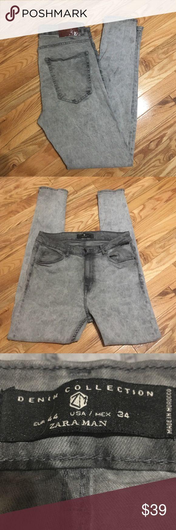 ZARA MAN skinny jeans Grey men's skinny jeans by ZARAMAN size 34 with a 29 inseam. No rips,holes,stains!!! Zara Jeans Skinny